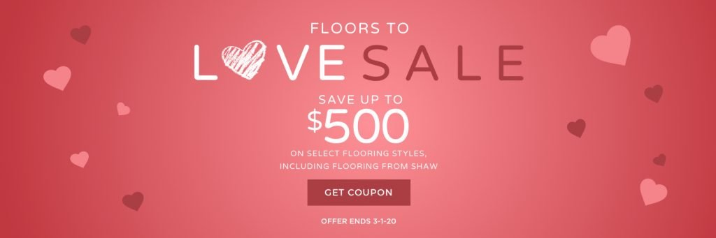Floors to love sale banner | Bowling Carpet
