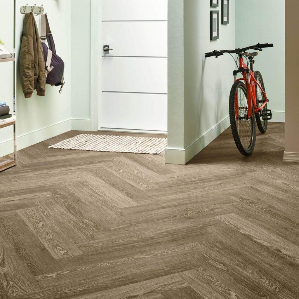 Bicycle on flooring | Bowling Carpet